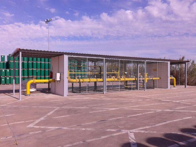 Instalación de suministro de Gas Extremadura en una industria de tomate