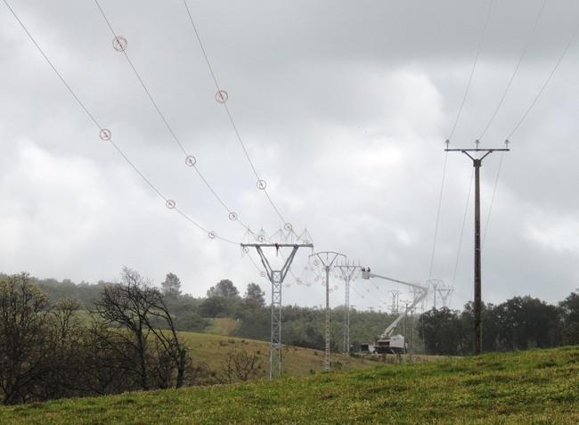 Sustitución línea alta tensión en Sierra de Gata, provincia Cáceres