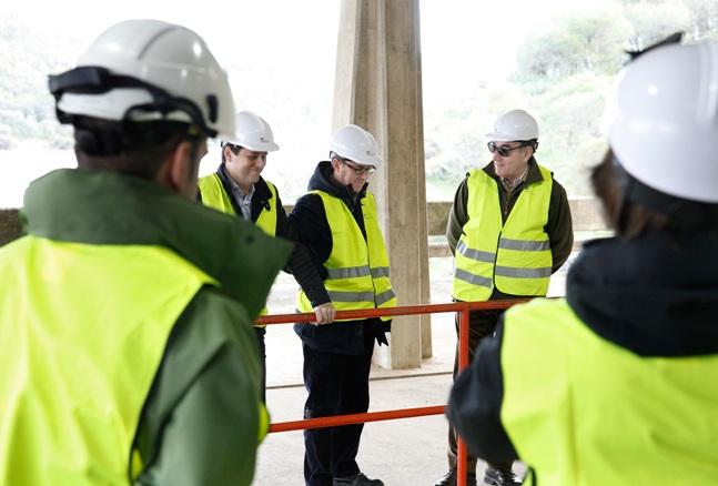El presidente de Iberdrola, Ignacio Galán, durante la visita a una instalación de la compañía.